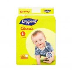 Drypers Classic Disposable Diaper L 9-14kg 60Pcs
