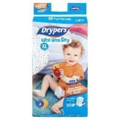 Drypers Wee Wee Dry Disposable Diaper XL 12-17kg 50 Pieces